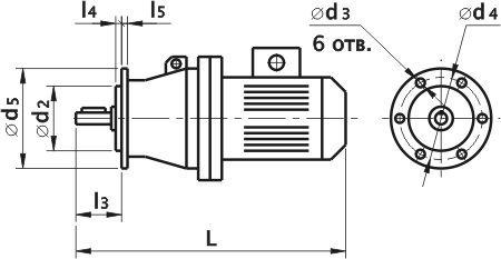 Мотор редуктор планетарный ЗМП-31.5. Фланцевое исполнение