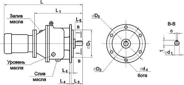 Мотор-редуктор МПО2М-15Ф