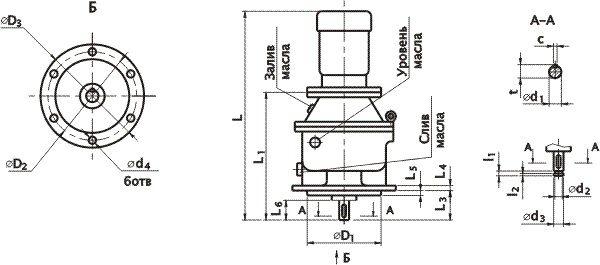 Мотор-редуктор МПО2М-15ВК и В